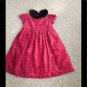 Girls 18-24 mo. Burgundy velvet Gymboree dress
